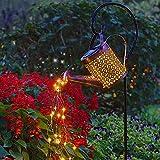 Solarlampen für Außen Gießkanne Solar Lichterkette Aussen, Solarleuchten Hängend Garten Deko IP55 Wasserdicht, Metall Vintage Solar Laterne für Garten,Balkon,Terrasse