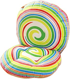 Seat Cushion, 40 x 80 cm 3D Creative Lollipop Style Soft seat Cushion with backrest