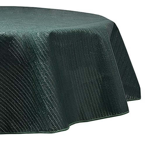 Beautissu Tovaglia da Giardino Rotonda Ø 160cm Impermeabile e Antiscivolo Lena - per balconi Camping Picnic - Verde