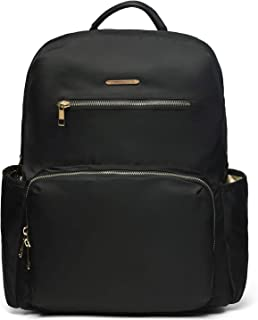Nylon Casual Lightweight Travel Backpack Purse with Trolley Sleeve for Women (Black)