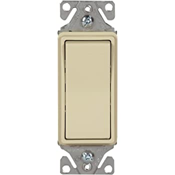 Almond EATON Wiring 7504A 15-Amp 120//277-volt Standard Grade 4-Way Decorator Switch with Back Push and Side Wiring