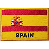 Spanische Flagge, bestickt, zum Aufnähen oder Aufbügeln, für T-Shirts, Taschen, Hüte