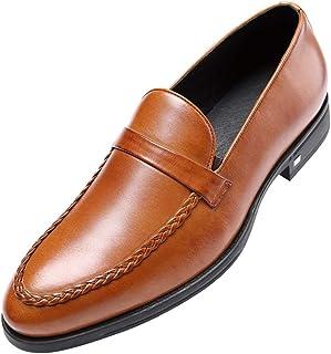 [ONE MAX] ビジネスシューズ 本革 メンズ ローファー スーツ用 スリッポン 革靴 高級靴 ロングノーズ フォーマル スタイリッシュ 幅広 通気 防滑