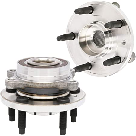 AutoShack HB613277PR Pair of 2 Wheel Bearing Hub Front Driver and Passenger Side Wheel Hub Bearing and Assembly 5 Lugs with ABS Replacement for 2011-2014 Ford Edge 2009-2018 Flex 2010-2018 Taurus