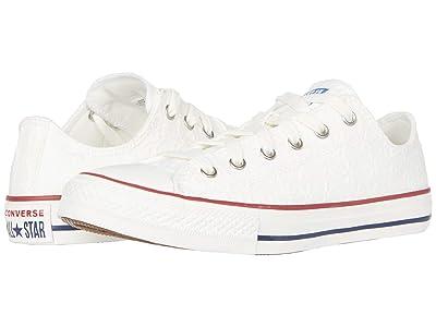 Converse Kids Chuck Taylor All Star (Little Kid/Big Kid) (White/Garnet/Midnight Navy) Girl