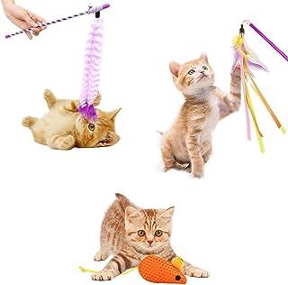 猫おもちゃ、鈴付き、猫じゃらし、羽付き猫じゃらしおもちゃ、歯ぎしりおもちゃ、3点セット