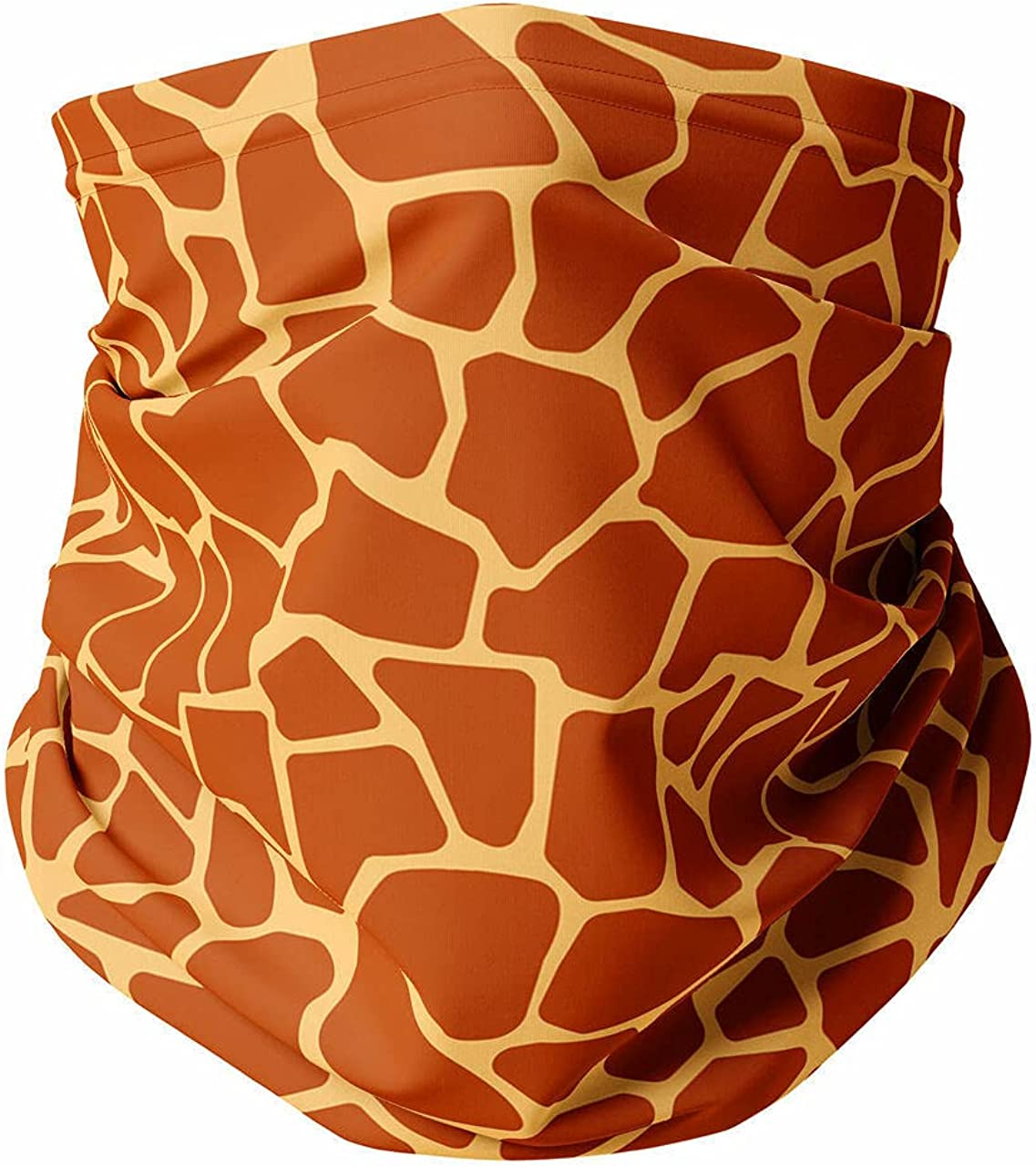 Neck Gaiter Face Covering - Giraffe Print