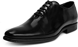 Bacca Bucci Genuine Leather Smart Simple Classic Formal Dress Shoes-Glossy Black
