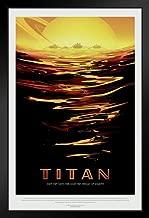 Titan NASA Space Travel Black Wood Framed Art Poster 14x20