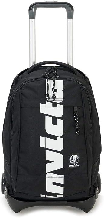 Trolley scuola invicta - plug logo - nero - 35 lt - zaino sganciabile e lavabile - scuola e viaggio B07RPBTFZ2