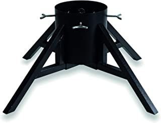 Modern & Sturdy Design Christmas Tree Stand for Real Trees Up to 10' Trees Large Water Reservoir Holds Up to 1.32 Gal Black (Black)