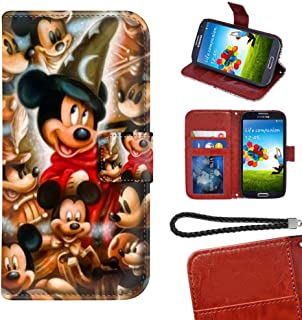 DISNEY COLLECTION Wallet Case Compatible Samsung Galaxy S6 [5.1 Inch] Mickey Mouse 90th Anniversary Puzzle Faux Leather