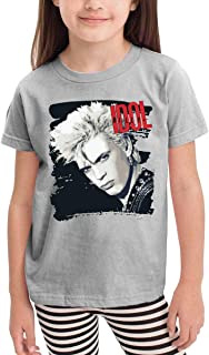 Children's T-Shirt Billy Don't You Idol Pattern Shirt Short Sleeve Cotton Graphic Tee for Girls Boys Kids