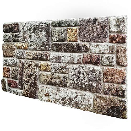 Pannelli Piedra sintética reconstruida en poliestireno resinado. Medidas 100 cm x 50 cm de grosor. 2 cm aislantes térmicos para interiores y exteriores. Modelo Fiorentina