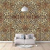 Fotomural Vinilo Para Pared Infantil Leopardo Fotomural Para Paredes   Mural   Vinilo Decorativo Decoración Comedores, Salones, Habitaciones - 350 X 250 Cm