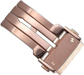 CHIMAERA 腕時計 Dバックル 14mm 16mm 18mm 20mm 22mm プッシュ 式 観音 開き ステンレス バタフライ バックル 光沢 磨き 仕上げ 交換用 バネ棒/バネ棒はずし付