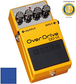 Boss OD-1X Overdrive Guitar Effects Pedal with 1 Year Free Extended Warranty