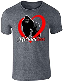 Harambe is My HaramBAE Meme RIP Gorilla Graphic Tee T-Shirt for Men