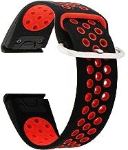 Veczom for Fenix 5 Band 22mm Soft Silicone Sport Watch Strap Compatible with Garmin Fenix 5, Fenix 5 Plus, Fenix 6, Fenix 6 Pro, Forerunner 935, Forerunner 945, Approach S60, Quatix 5 Smart Bands