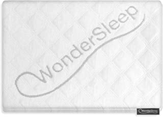 WonderSleep Premium Ultra-Soft Pillowcase (Pack of 2, Queen Size) - Zipped Cooling Bamboo Derived Rayon Pillow Cover for Home & Hotel Collection - Hypoallergenic Wrinkle Resistant/Washable