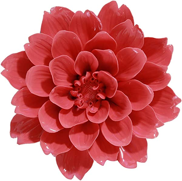 ALYCASO Wall Pediments Ceramics Flowers Wall Decoration Hangings Home Decoration Scorpio Peony Red 14