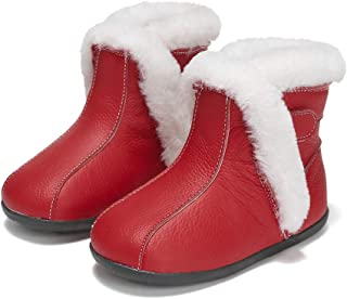 SandQ baby Red Fur Lined Leather UGG Boot