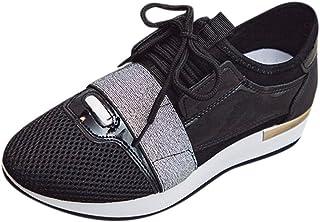 Sneakers Donna Basse - Sneakers Donna Scarpe Donna Ginnastica Nere Scarpe Donna Sportive Zeppa Fitness Jogging Scarpe da G...