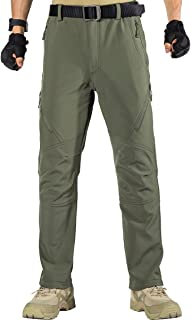 FREE SOLDIER Pantaloni da Lavoro da Uomo per attività All'aperto Pantaloni Softshell Sci Termici Impermeabile Pantaloni Tr...
