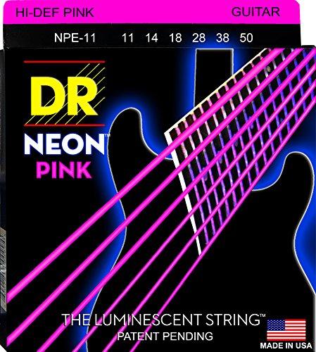 Dr Strings Neon 11-50Gitarrensaiten für E-Gitarre, Pink