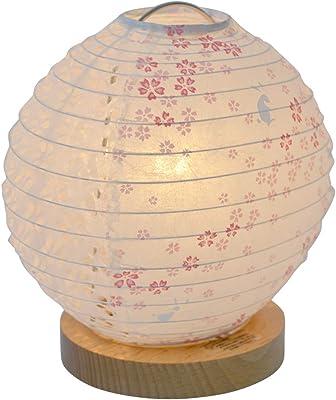 美濃和紙製 テーブルライト スモールライト ミニスタンド peony ピオニー 花うさぎピンク×小梅白 手作り 間接照明 和風照明 和紙照明
