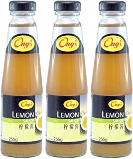Ong's Lemon Sauce, 255g, Pack of 3, Product of Singapore