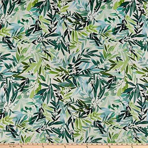 Cloud 9 Fabrics Organic Field & Sky Lush Mimosa Cotton Sateen Green/White Fabric by the Yard