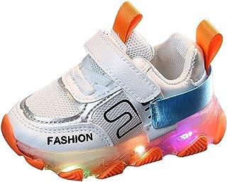 Sceoyche Kids LED Light Shoes, Baby Luminous Mesh Breathable Sport Shoes Ultralight Outdoor Shoes Non-slip Velcro Walking ...