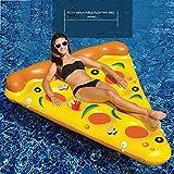 HSTD Pizza Agua Pool Float Juguetes Inflables, Hinchable Colchonetas Piscina, para Adultos y Niños, de Natación Playa o Piscina Baño Juguete Inflable Flotador Gigante, 185X150CM Pizza