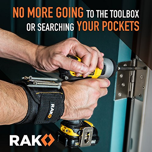 Product Image 5: RAK Magnetic Wristband with Strong Magnets for Holding Screws, Nails, Drill Bits for DIY Handyman, Father/Dad, Husband, Boyfriend, Him, Men, Women (Black)