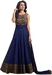 HARMEE FASHION Net Anarkali Semi-Stiched Salawar Suit With Dupatta For Women