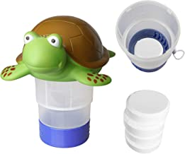 Turtle Chlorine Floater, Collapsible Floating Chlorine Dispenser, Max to 4pcs 3in Chlorine Floater, Release Adjustable for Indoor Outdoor Swimming Pool Hot Tub SPA