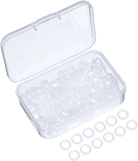 Sumind 200 Pieces Rubber Rings Seal O-Ring Rubber Keyboard Dampeners with Plastic Storage Box for Cherry MX Switch Keyboar...