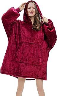 RainRose Pullover Damen, Hoodie Damen Oversize Sweatshirt Decke, Geschenke für Frauen Decke mit ärmel, Weicher Warmer Kapu...
