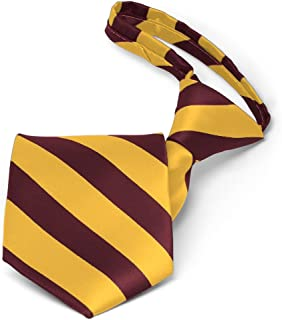 maroon and yellow tie