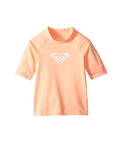 Roxy Kids Whole Hearted Short Sleeve Rashguard (Toddler/Little Kids/Big Kids) (Souffle) Girl