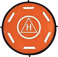 Landing Pad Helipad Foldable for DJI Phantom 4 3 Mavic Pro Drone RC Quadcopter Positive and Negative Sides of Orange Black by GorNorriss