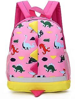 Mochila Infantil de Dinosaurios Mochila para Niños Infantil Guarderia Mochila Escolar (Rosado)