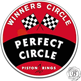 Brotherhood Vintage Perfect Circle Piston Rings Winners Circle Emblem Sign (Reproduction) 11.75