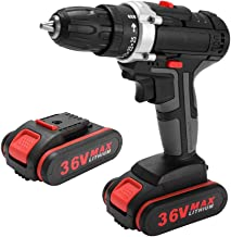 Festnight 36V Multifunctional Electric Impact Cordless Drill High-power Battery Wireless Rechargeable Hand Drills Home DIY...