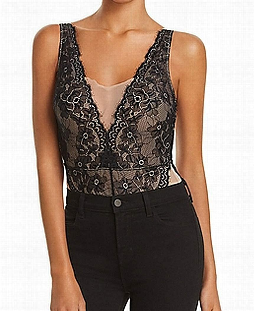 Vince Max 83% OFF Camuto womens Mesh 2021 spring and summer new and Bodysuit Galloon Lace