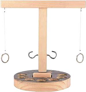 herommy Toss krokar och ring spel, ringkastning spel trä ring toss krok och ring inomhus/utomhus spel bordsskiva ring kast...