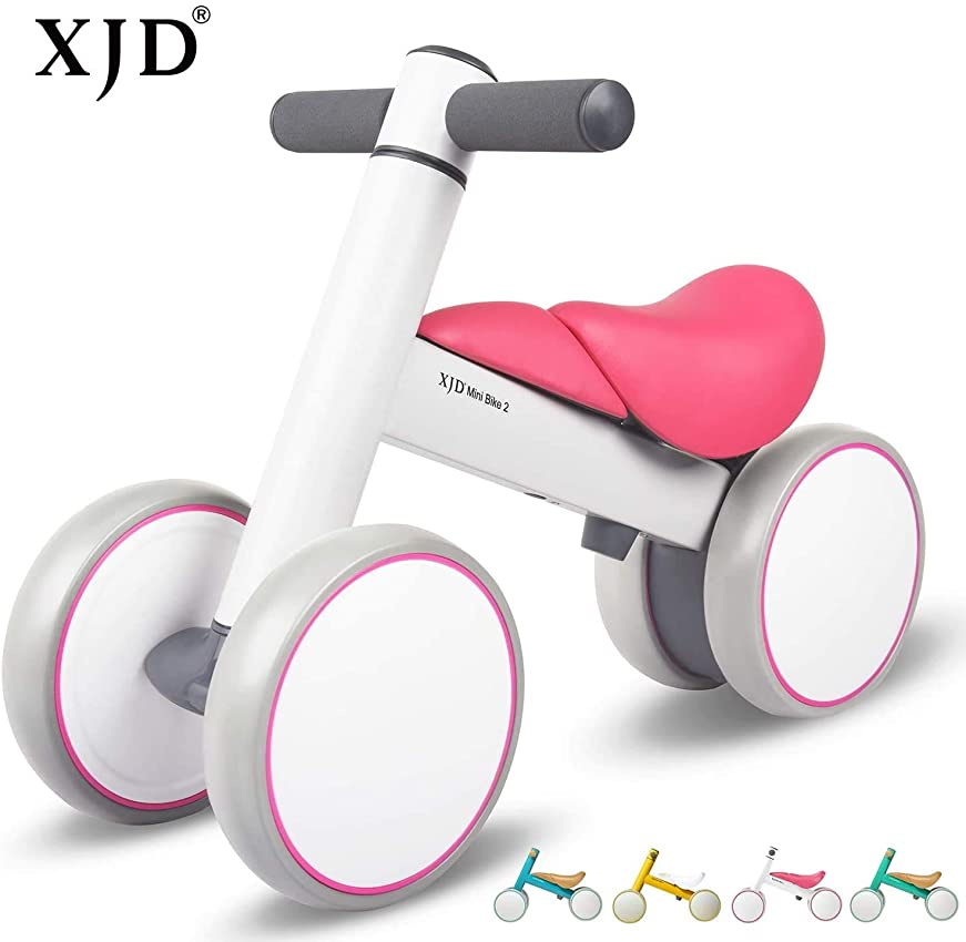 人里離れた乗り出す散るXJD Mini Bike チャレンジバイク 三輪車 ペダルなし自転車 こども 幼児用 10ヶ月-3歳に向け 軽量 ノーパンクタイヤ 子供用 乗り物 出産祝い 誕生日プレゼントに最適 (マゼンタ)
