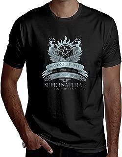 Supernatural Saving People Hunting Things Man's Handsome Short-Sleeved T-Shirt Fashion T-Shirt Helpshirt