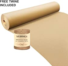 MERRIMEN Kraft Paper Roll - 500 Millimetres Jumbo Value Pack - Brown Paper Packing Roll - Ideal for Arts, Crafts, Gifts, Postal, Shipping, Wrapping, Floor Covering, Table Runners (500mm x 20m)